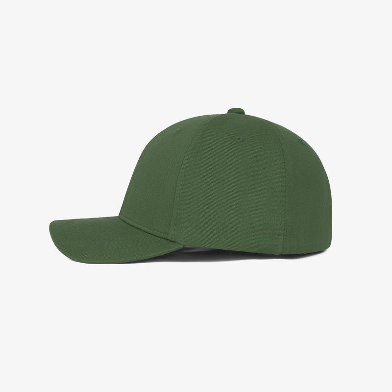 Boné flex fechado em brim verde bandeira 0638 - Lateral