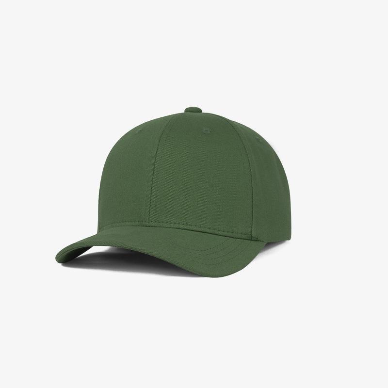 Boné flex fechado em brim verde bandeira 0638 - Perfil