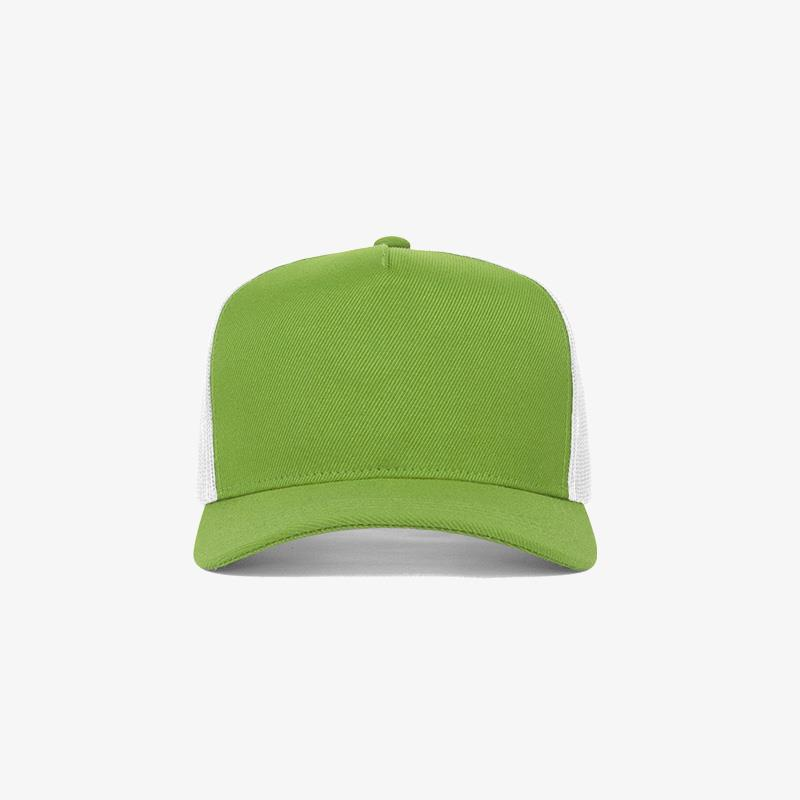 Boné trucker de sarja frente verde abacate 10 e traseira de tela branca - Frente