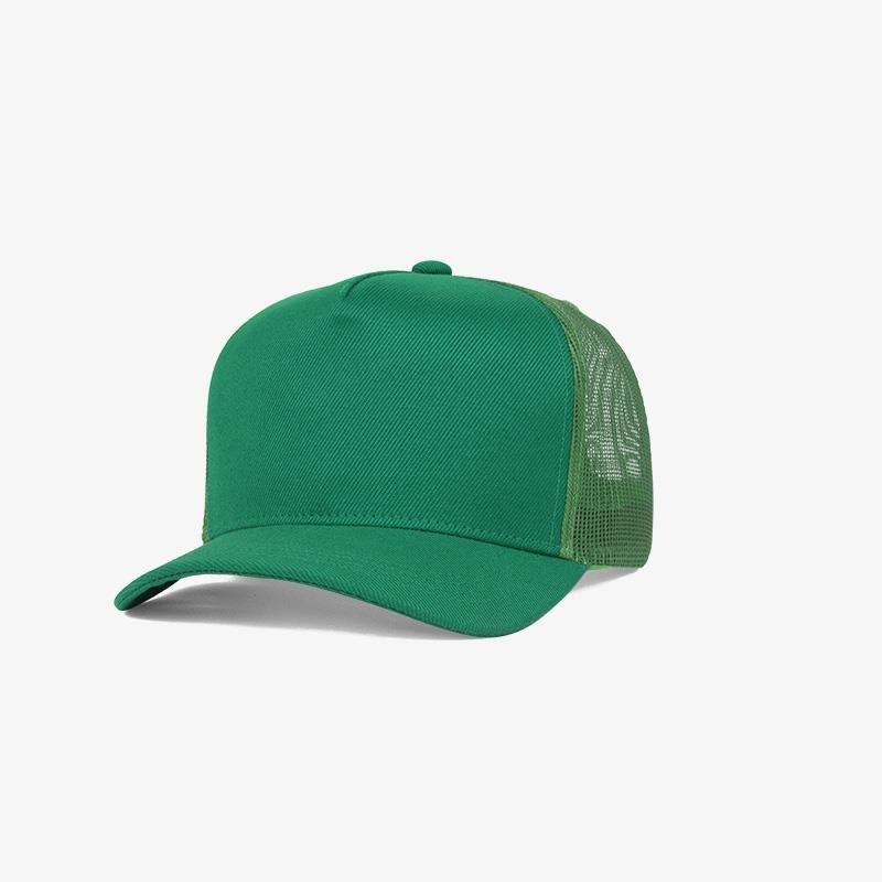 Boné trucker verde bandeira em sarja e tela - Perfil