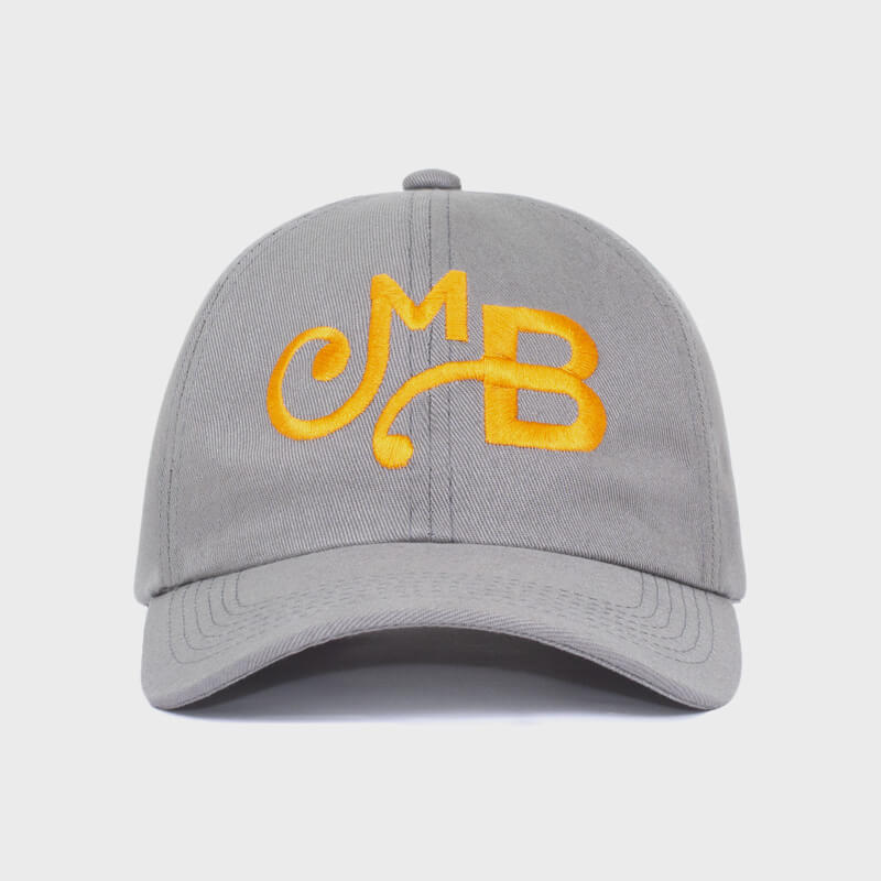 Boné dad hat com aba curva e regulador fivela - frente